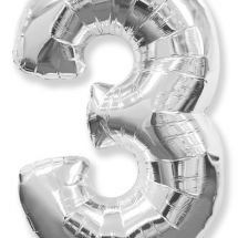 Шар (40»/102 см) Цифра, 3